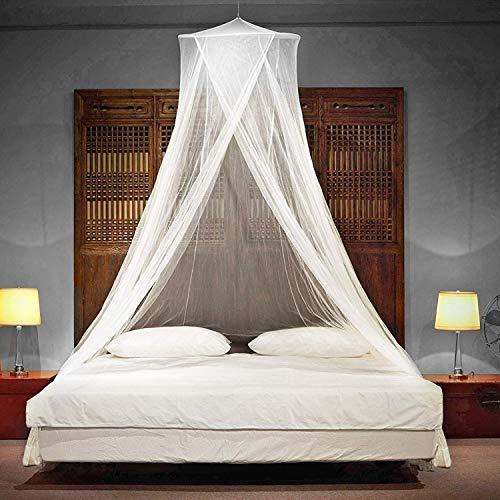 Glorytec Moskitonetz XXL - Premium Mückennetz mit 2-Wege-Reißverschluss für Doppelbett und Einzel-Bett - Fliegennetz Schützt vor Insekten und Mücken