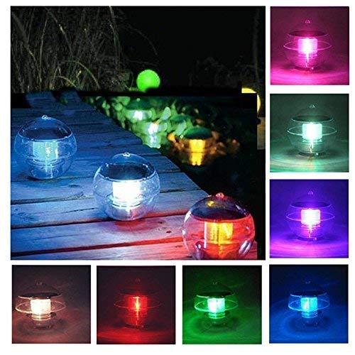 Mixtooltoys Teichbeleuchtung Schwimmende Floating Pool Licht RGB Ball Lampen Solar Schwimmkugel Poolbeleuchtung Beleuchtung Wasserlicht Kugelleuchte Unterwasser Farbwechsel für Teich Garten Baum