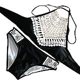 d7758dbe9f2c Bohemien a mano maglia sexy split costume da bagno bikini spiaggia  frangiato ,Yanhoo Costume Mare