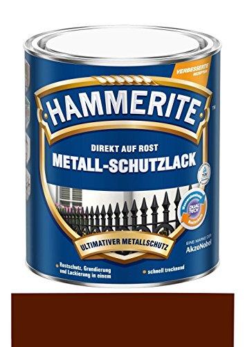 250 ml Hammerite Direkt auf Rost Metall-Schutzlack Braun, Glanz