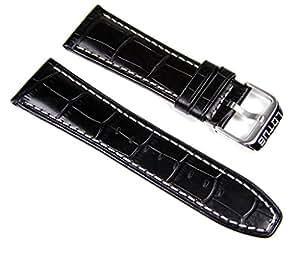 Lotus Ersatzband Leder Band Uhrenarmband 26mm schwarz L15536/1