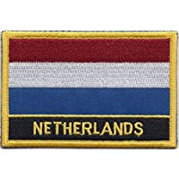 Netherlands Flag Embroidered Rectangular Patch Badge / Sew On Or Iron On - Exclusive Design From 1000 Flags