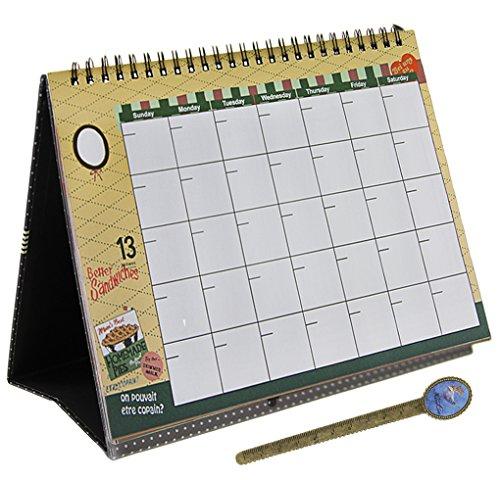 Settimanale calendario da tavolo calendario mensile settimanale agenda Day top Spiral rilegato diario planning desktop notebook con copertina rigida con righello