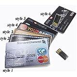 SUNNY-mercado de tarjetas de crédito Bank Forma USB 2.0 USB Memoria USB 8GB palillo de Pendrive U disco de memoria flash de almacenamiento Pen Drive 16gb 32gb 4gb, estilo 8, estilo 8