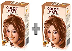Color Mate Hair Color Cream - Golden Copper 130 ML (Pack of 2)