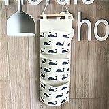 Fieans Hanging Storage Bag Back Wall Hung Door Pocket Wand Utensilo Wohnzimmer Schlafzimmer Hängenden Tasche-Marine Wal