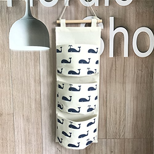 Preisvergleich Produktbild Fieans Hanging Storage Bag Back Wall Hung Door Pocket Wand Utensilo Wohnzimmer Schlafzimmer Hängenden Tasche-Marine Wal
