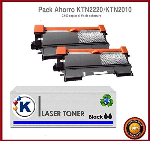 KONVER K-TN2220/K-TN2210/ K-TN2010, Pack Ahorro 2 Toner Compatible (NON OEM) reemplaza toner Brother® TN2220/ TN2210, TN2010. Valido para la impresoraBrother DCP-7055, DCP-7055W, DCP-7057, DCP-7060D, DCP-7065DN, DCP-7070DW, HL-2130, HL-2132, HL-2135W, HL-2240, HL-2240D, HL-2250DN, HL-2270DW, MFC-7360N, MFC-7460DN, MFC-7460N, MFC-7860DW, FAX-2840, FAX-2845, FAX-2940. Enviado desde Madrid.