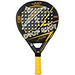 Drop Shot Conqueror 2.0 - Pala de pádel, color negro / amarillo / blanco, 38 mm