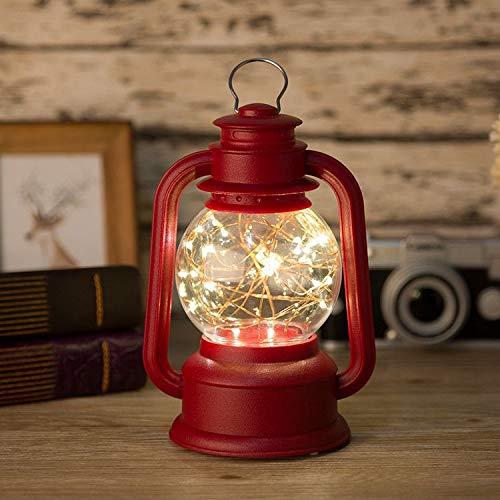 Lámpara de queroseno retro Usb Luz nocturna de carga Ahorro de energía y protección para los ojos Luz nocturna de noche Lámpara de aceite casera Negro