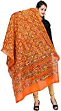 #3: Banjara Women'S Cotton Kutchi Dupatta - Rasna (RSN11 _Tangy Orange _Handicraft Dupatta_Free Size)