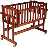 Luvlap C-30M Baby Multipurpose Wooden Cot with Mattress - Medium (Cherry Red)
