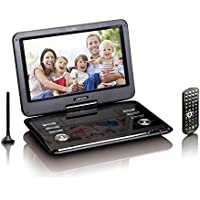 Lenco DVP-1273 Tragbarer 29 cm (11,6 Zoll) DVD-Player mit DVB-T2 Tuner, Fernbedienung, 12V Kfz Adapter, USB, SD, AV, Kopfhörer-Buchse, schwarz