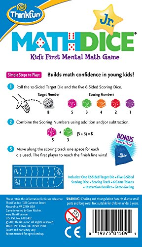 CI MATH DICE JUNIOR. THINK FUN