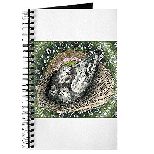 CafePress–Nistkasten Tauben Deko–Spiralbindung Journal Notebook, persönliches Tagebuch, Dot Grid (Taube-nistkästen)
