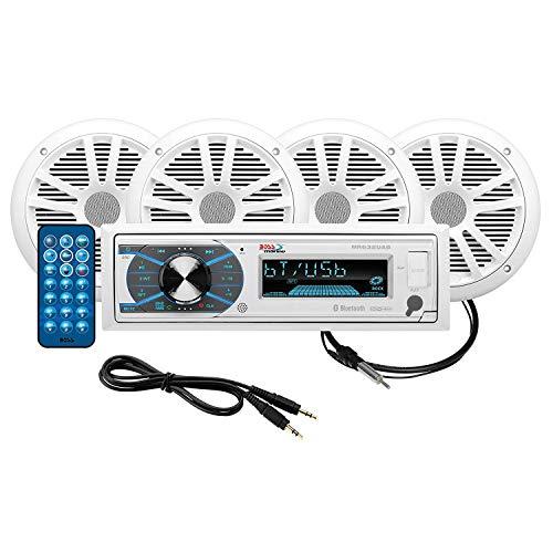 BOSS Audio MCK632WB.6 - Paquete estéreo Marino con Bluetooth, (sin CD/DVD), MP3/USB/WMA...