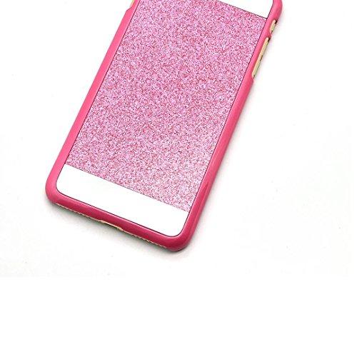 iPhone 7 Handyhülle, iPhone 7 Schutzhülle, Vandot Diamant Bling Glitzer Hülle iPhone 7 PC Hart Case Cover mit Kratzfeste Stoßdämpfende Luxus Ultra Dünn Handytasche Handy Schutz Schale Tasche Bumper fü Rosa