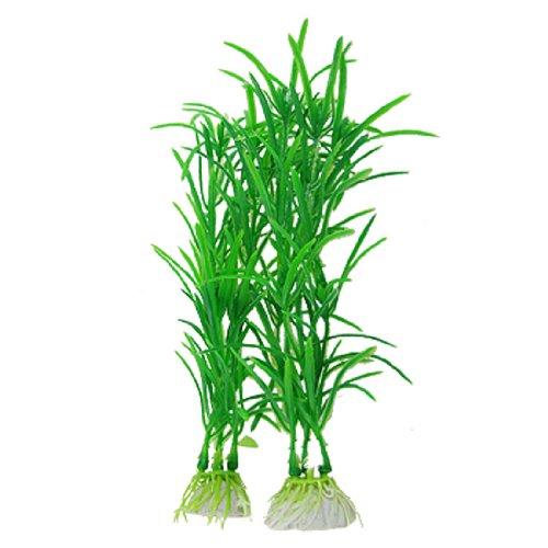 "sourcingmap® 10 pz vivente acquatico plastica piante Decor verde 7"" per acquario pesce acquario"