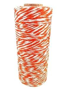 Spolverino Divine Bobina da 8poli in cotone, corda da 135 metri (Arancio + Bianco)