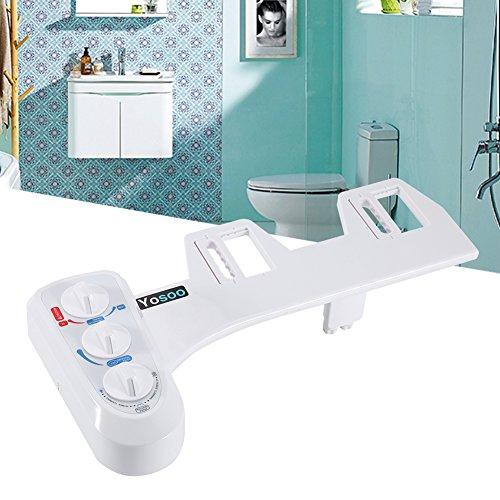 Weiß Smart-Bidet Dusch-WC Warmwasserbidet Bildet-Aufsatz WC Sitz mit Eins/Zwei/Drei Buttons