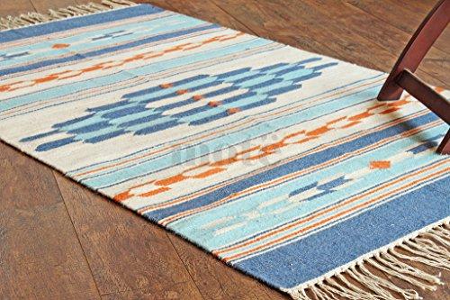 3 Handgefertigte Wolle Teppiche (Splitter handgeflochtenem & handgefertigt 3'x 5'-southwesterndhurrie Bereich Teppich, Stil: 2025)