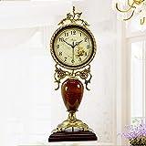 Relddd Kaminuhr Kaminuhren,Kreative Mute Uhr Moderne Wohnzimmer Quarz Uhr Tisch Dekoration Ornamente