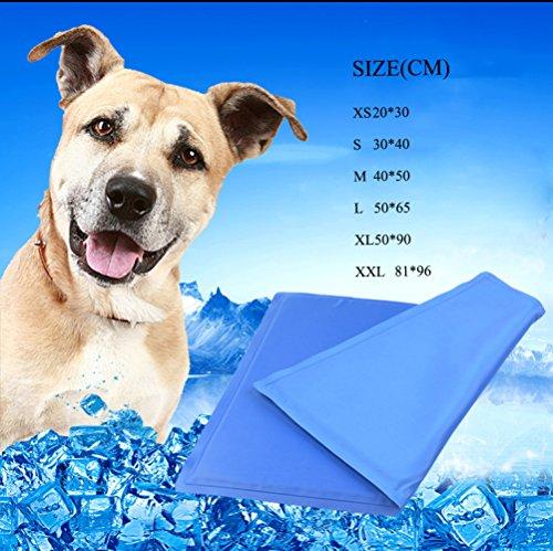 Kühlmatte Hund Katzen Hund Pet Cool Pad Gel Ice Pad Cooling Pad Sommer Hitze Hund Hund Matten In Verschiedenen Größen,L