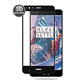 E-Hamii OnePlus 3 (Schwarz) 3D Schutzfolie Vollständige Abdeckung Premium Glas Display HD Schutz Schutzglas Echte Glas Displayschutzfolie 9H
