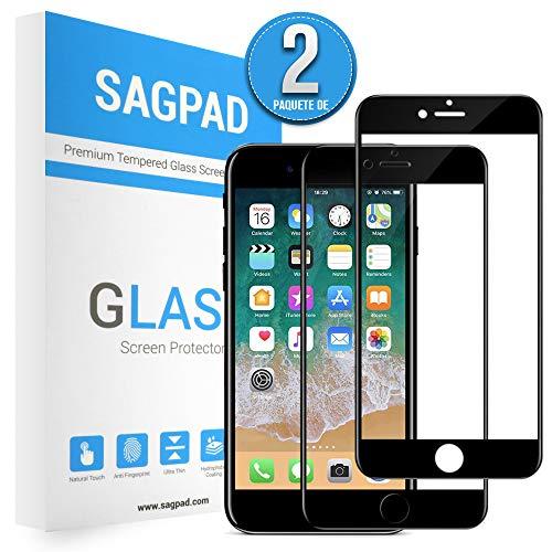 SAGPAD [2 Piezas] Cristal Templado iPhone 6/ 6s, Cubierta