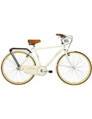 'Bicicleta Cicli Adriatica Week End de hombre, estructura de acero, rueda de 28, monomarcia, 2 colores disponibles, crema