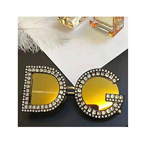day spring online shop Mode Sonnenbrillen Damen Herren Crystal Details Dolce & Gabban a DG6121B DG Sunglasses - Gold Mirror
