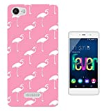 003350 - Pink flamingo Collage pattern Design Wiko Fever 4G