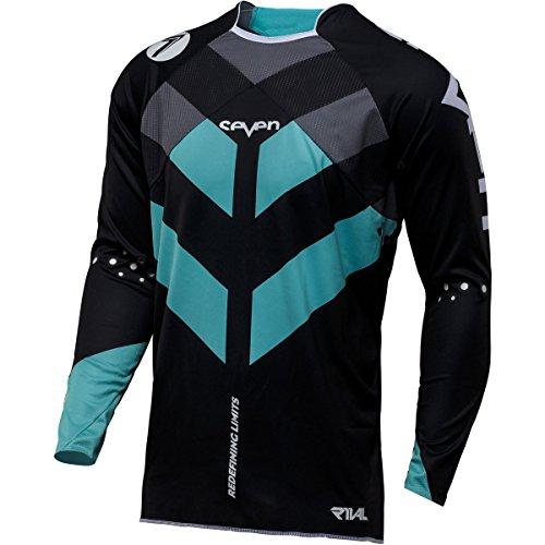 Preisvergleich Produktbild Sieben MX Rival Venom Erwachsene Jersey, aqua/schwarz, Größe L
