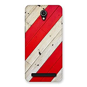 Stylish Diagnoal Red Print Back Case Cover for Zenfone Go