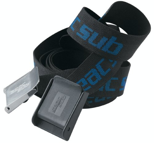 Seac Sub Cintura Gürtel, aus Blei bunt Schwarz/Blau