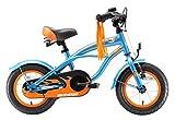 BIKESTAR® Premium Design Kinderfahrrad für coole Kids ab 3 Jahren ★ 12er Deluxe Cruiser Edition ★ Champion Blau -