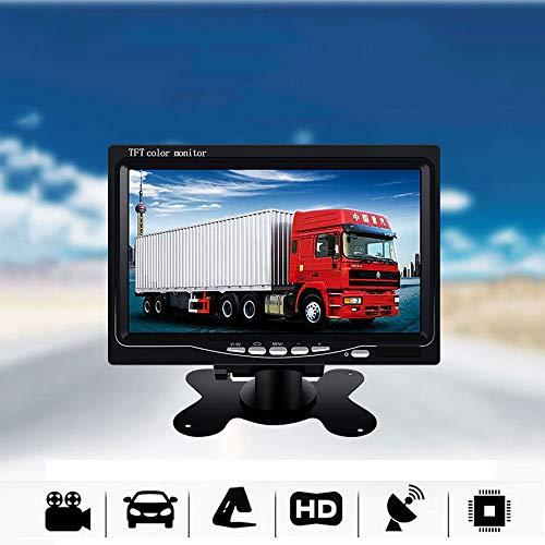 SSCJ 7-Zoll-Bildschirmanzeige TFT-Farbe-LCD-Kopfstütze-Parkplatz-Rückansicht-Rückseiten-Monitor mit 2 Videoeingang 2 AV in für DVD VCD, die Kamera für Bus-LKW-Anhänger aufhebt -