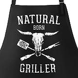 Grill di grembiule per uomini con scritta carne è il mio verdure grembiule di cotone grembiule da cucina Moon Works®