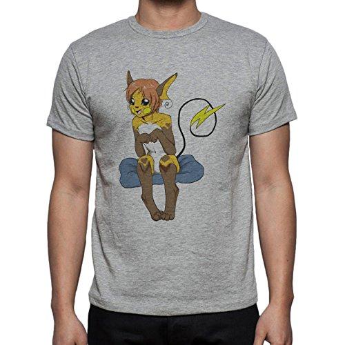 Pokemon Raichu Electric Pikachu Girl Cloud Herren T-Shirt Grau