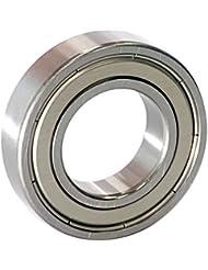 EZO - Roulement à billes à gorge profonde rangée simple en acier inoxydable 6005 ZZ (25x47x12)