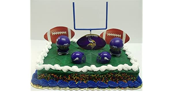 Enjoyable Nfl Football Minnesota Vikings Birthday Cake Topper Set Featuring Funny Birthday Cards Online Elaedamsfinfo