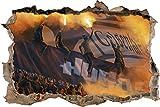 Ultras Gelsenkirchen Hugos, 3D Wandsticker Format: 92x62cm,