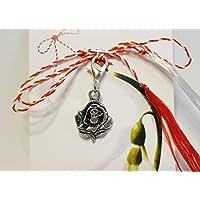 IohanaSchmuck Martisor, Charm, Anhänger als Rose aus Metall, eigene Herstellung