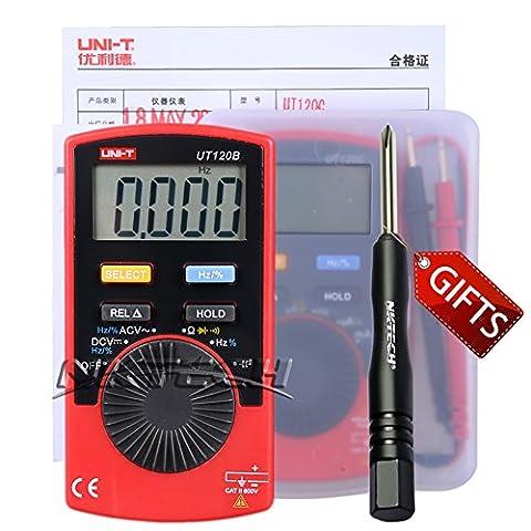Nktech Tl-1Tournevis Uni-T Ut120b Mini Pocket Handheld Autorange multimètre numérique AC/DC Tension Résistance Capacitance fréquence Cycle testeur Mètre 4000fils