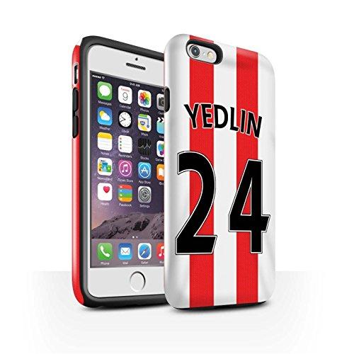 Offiziell Sunderland AFC Hülle / Glanz Harten Stoßfest Case für Apple iPhone 6S / Pack 24pcs Muster / SAFC Trikot Home 15/16 Kollektion Yedlin