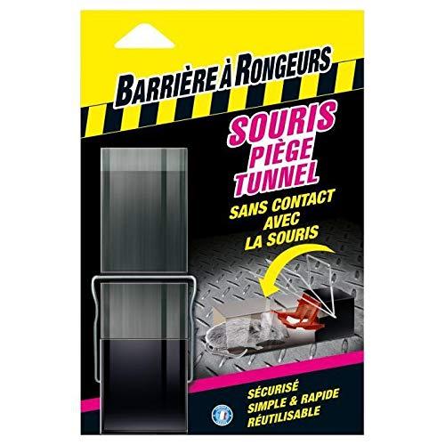 BARRIERE A RONGEURS Pièges à Souris tunnel Blister, avec crochet, Pour tout type d'appât, 1 piège, BARTUNEL