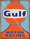 Gulf Motorsport Team Motorsport Garage Klassischer Metall/Stahl Wandschild - 20 x 30 cm
