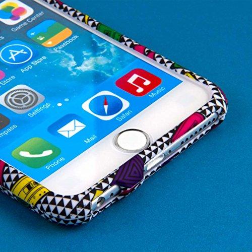 "MPERO SNAPZ Series Glossy Case Custodia per Apple iPhone 6 Plus 5.5"" - White Paint Splatter Neon 90's, SNAPZ"