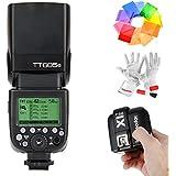 Godox TT685S Blitzgerät HSS 1/8000S GN60 TTL Kamerablitz Flash Speedlite mit X1T-S 2.4G TTL Kabellos Blitz Auslöser für Sony DSLR-Kameras mit Multi Interface Shoe A77II A7RII A7R A58 A99 ILCE6000L ILDC Camera