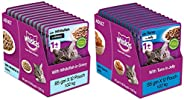 Whiskas Adult (+1 Year) Wet Cat Food, Whitefish in Gravy, 12 Pouches (12 x 85g) & Whiskas Adult (+1 Year)